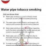 Water pipe tobacco smoking